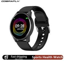 Cobrafly Smart Horloge Mannen Vrouwen 1.3 Inch Scherm Fitness Tracker Hartslagmeter IP67 Waterdichte Band Voor Xiaomi Samsung Huawei