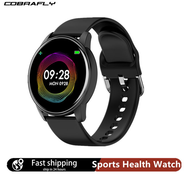 Cobrafly Smart Watch Men Women 1.3 Inch Screen Fitness Tracker Heart Rate Monitor IP67 Waterproof Band for Xiaomi Samsung Huawei