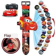 Disney carros história 20 imagens crianças desenhos animados projeção relógio eletrônico relâmpago mcqueen figura de ação presente criativo para o miúdo