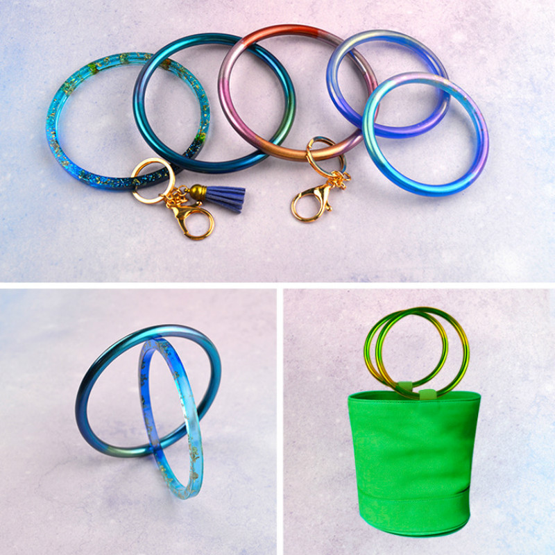 Round Bracelet Silicone Mould High Quality Big Bangle Mould Flexible Jewellery Mold Clear Epoxy Resin Mold DIY Jewelry Tool