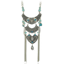 LosoDo New Style European and American New Bohemian Multi-Layer Tassel Necklace Foreign Trade Necklace fashion jewelry