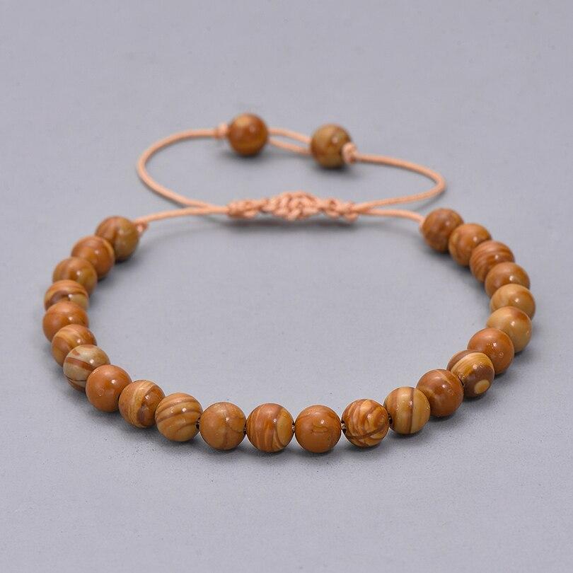 Этнические смолы кристалл каменный шарик браслет для мужчин женщин Мода Черная струна Плетеный Пара Браслеты Шарм ювелирные изделия - Окраска металла: 4