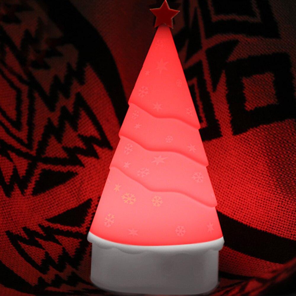 Babbo natale Ligh Albero Di Natale Accarezzò Silicone HA CONDOTTO LA Luce di Notte 4 di Colore del Sensore di Tocco di Controllo Regalo per I Bambini Del Bambino bambini O16 - 4
