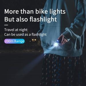 Image 3 - ROCKBROS Bike Front Light Rainproof USB Rechargeable Bicycle Light 400LM Cycling Headlight LED 2000mAh Flashlight MTB Bike Lamp