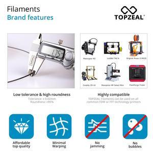 Image 3 - TOPZEAL di Alta Qualità PLA/ABS/PETG/TPU/Nylon 3D Stampante Filamento 1.75 millimetri Bobina e 10M * 10 Colori Del Campione per 3D Materiali di Stampa