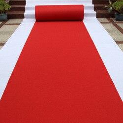 Podróż czerwony dywan ślub dywan jednorazowe czerwony dywan wystawa dywan hurtownie korytarz schody Pad darmowa wysyłka 1.0mm. w Dywany od Dom i ogród na