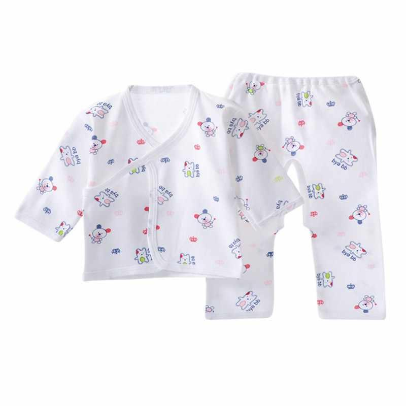Conjunto de ropa interior para bebé recién nacido conjunto de ropa Unisex Otoño Invierno ropa de bebé Conjunto de camiseta + Pantalones 2 piezas