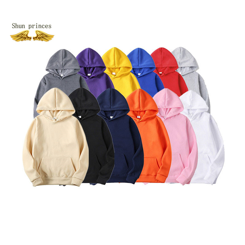 Shun princes Fashion Brand Men's Hoodies Spring Autumn Male Casual Hoodies Sweatshirts Men's Solid Color Hoodies Sweatshirt Tops