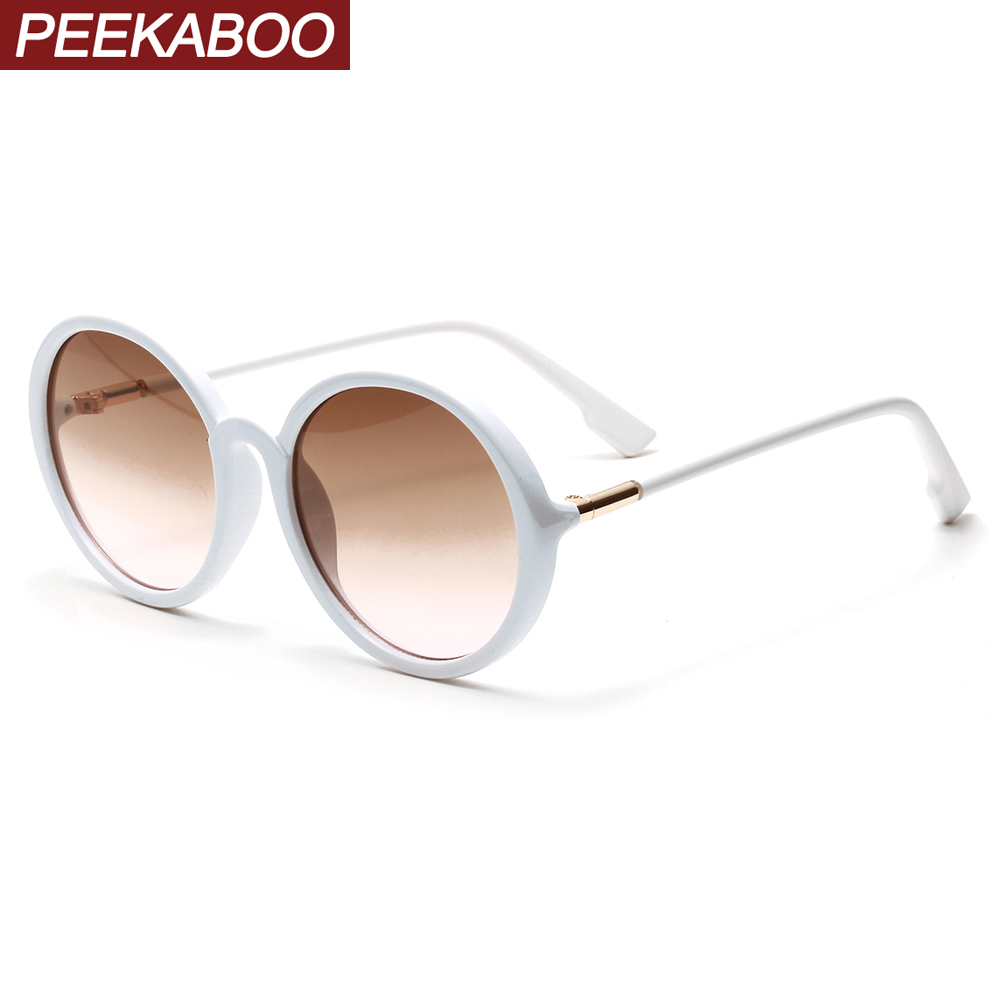 Hot Discount #7bb7 Peekaboo Round Frame Sunglasses For