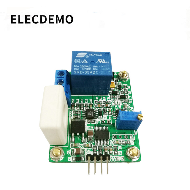 WCS1800 Hall Current Sensor Module DC AC Detection Module 30A Serial Output Overcurrent Protection