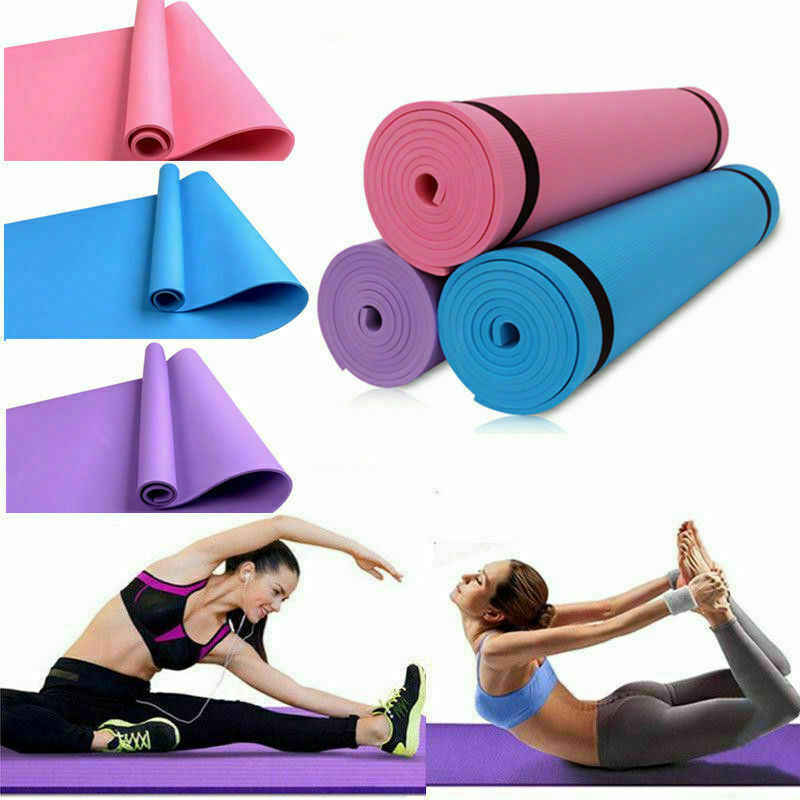 1730*610*40mm Yoga Mat egzersiz elastik kaymaz spor jimnastik paspaslar çanta taşıyıcı kalın diz egzersiz ped acupressure Mat