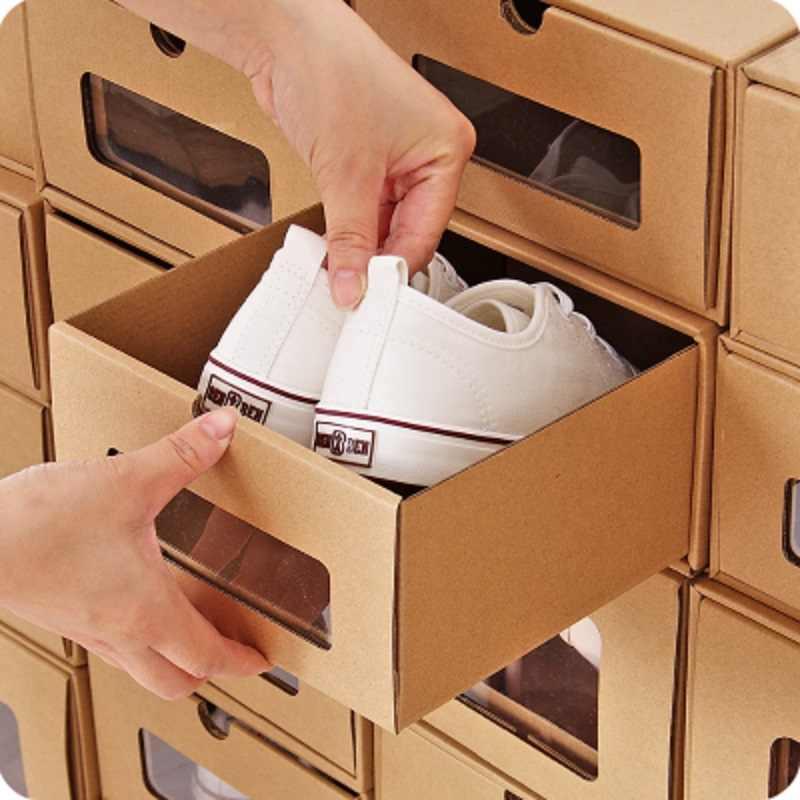 ประเภทลิ้นชักกระดาษคราฟท์กล่องเก็บสร้างสไตล์ญี่ปุ่นชุดลิ้นชักกรณีบู๊ทส์รองเท้ารองเท้าผ้าใบ Finishing Organizer