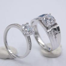 Женское кольцо из стерлингового серебра 925 пробы с бриллиантом