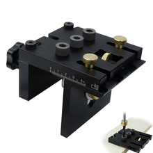 Набор кондукторов для деревообработки с зажимом, регулируемый перфоратор для отверстий, направляющая для сверления, для соединения мебели, столярных инструментов