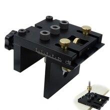 Houtbewerking Doweling Jig Kit Met Clip Verstelbare Perforator Locator Boren Gids Voor Meubels Aansluiten Timmerwerk Gereedschap