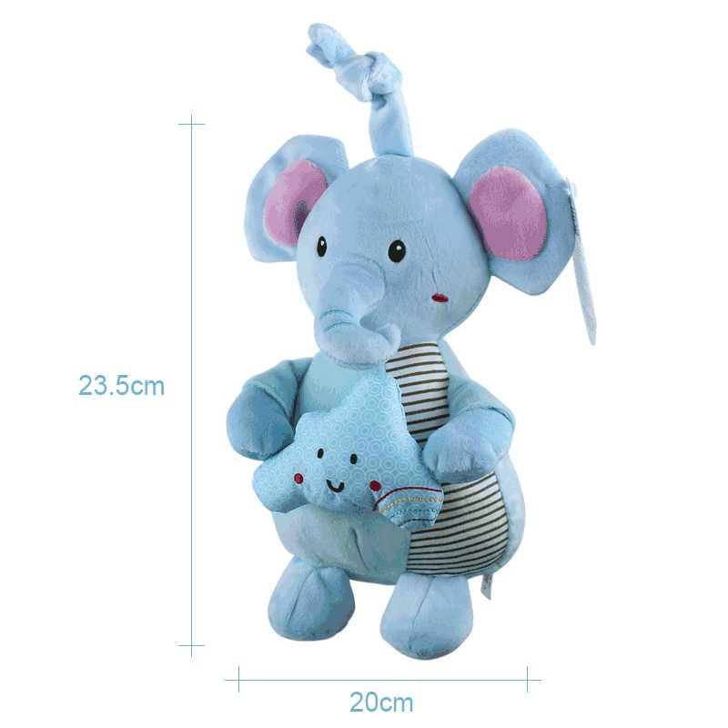 עגלת תינוק רעשן מוסיקה תליית קטיפה עריסה בעלי החיים תינוק צעצוע 0-12 חודשים מיטה חמוד רעשן ילדי צעצועים חינוכיים יילוד מתנה