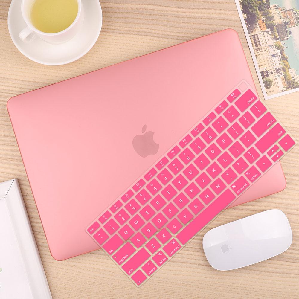 Чехол для ноутбука 4 в 1 для MacBook Air 11, 13 дюймов и Pro retina 13,3, 15,,,, кристально Матовый Жесткий чехол для клавиатуры - Цвет: Matte Pink