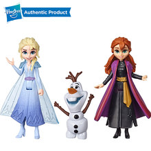 Hasbro Disney Frozen 2 ELSA ANNA OLAF AND GALE Fashion small Doll Best Holiday Birthday Gift for Kids Girls(China)