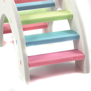 Wood Chew Toys Teeth Care Molar Toy For Rabbit Chinchilla Pet Molar Toys For Hamster Colorful Mini Stairs Exercise Pet #15