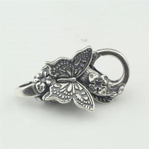 Image 5 - Echtes 925 Sterling Silber Armband Schmetterling Hummer Lock Vintage karabinerverschluss für Frauen Fit für Europäischen Charme Armbänder