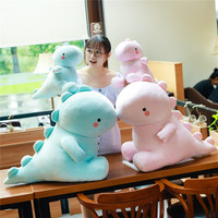 New Style Cute down Cotton Little Dinosaur Doll And Soft Plush Toys Blue Dinosaur Doll Girl'S Gift