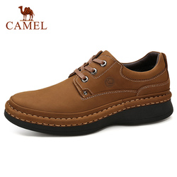 CAMEL England Genuine Leather Lace-up Men Casual Shoes Hand-stitched Thick-soled Men's Shoes Footwear Man