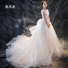 SERMENT Wedding Dress One-shoulder Main Wedding Dress New Spring Europe and The United States Trailing Red Bride Wedding Dress kimberly cates the wedding dress