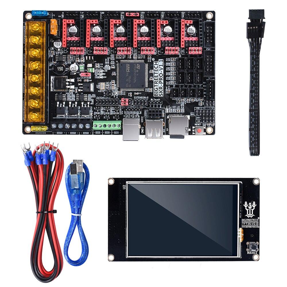 Tableau de commande BIGTREETECH SKR PRO V1.1 32Bit + écran tactile TFT35 + TMC2130 SPI TMC2208 TMC2209 pièces d'imprimante 3D vs V1.3 MKS GEN L - 2