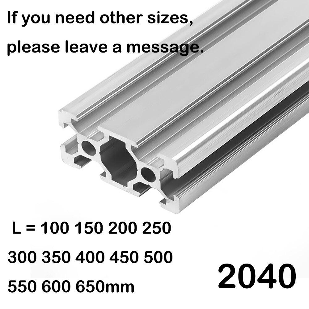 Детали для 3d принтера 2040 алюминиевый профиль Европейский стандарт анодированный линейный рельс алюминиевый профиль 2040 экструзия 2040 часть