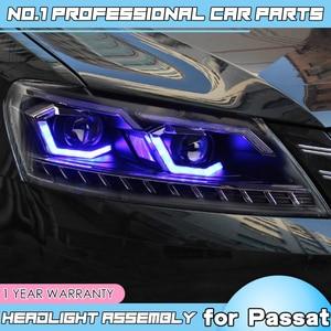 Image 3 - อุปกรณ์เสริมสำหรับรถยนต์สำหรับ VW Passat B7 US Verson ไฟหน้าสำหรับ Passat B7 2012 2016 ไฟหน้า DRL D2H แบบไดนามิกเปิดสัญญาณ HID Bi Xeno