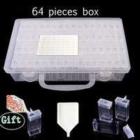 28\/ 64 Grids Plastic Box Organizer Medicine Case diamond painting Storage Box Embroidery Storage Case Jewelry Accessories Tools