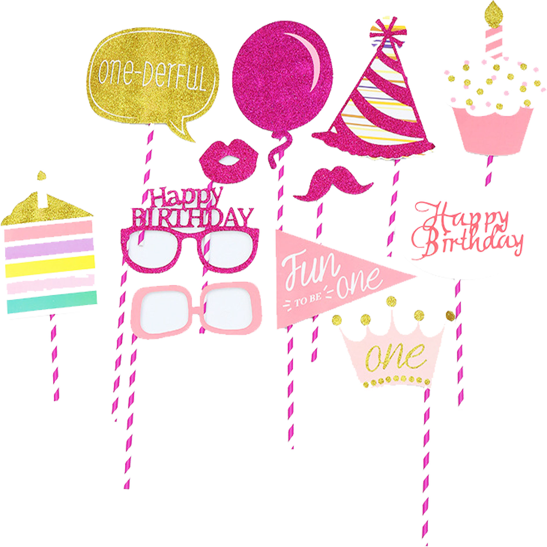 Diy Photo Booth Props Baby Shower Photobooth Boy Girl Pink 1st Birthday 1th 1 Year Old One Decoration Funny Favor Party Supplies Buy At The Price Of 3 55 In Aliexpress Com Imall Com