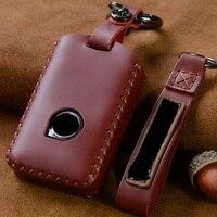 Handarbeit Aus Echtem Leder Smart Auto Schlüssel Fall Abdeckung Tasche für VOLVO S90 V90 XC90 XC60 XC40 Schlüssel Fall Abdeckung