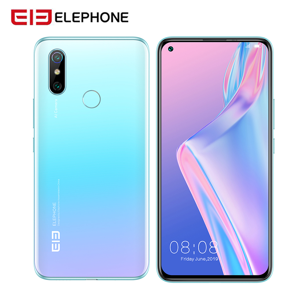 "ELEPHONE U3H Wireless Charging Helio P70 Octa Core 6.53"" FHD+ 8GB 256GB 24MP Selfie 48MP Camera Mobile Phone NFC Cellphone"