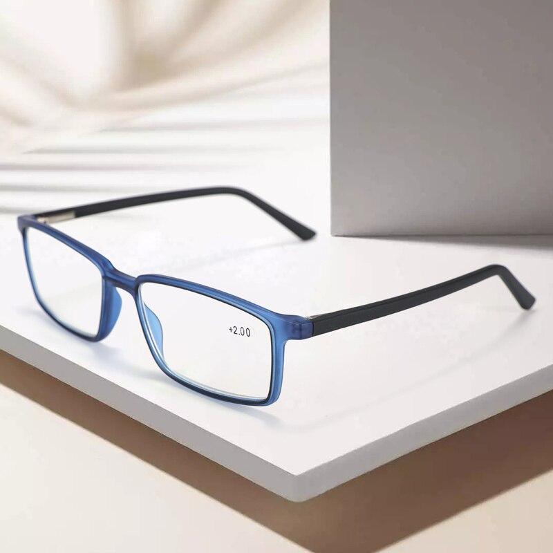BLUEMOKY Anti Blue Light Blocking Reading Glasses For Men Women Square Full Frame Frame Antireflective Coated 1.0-4.0 Lens