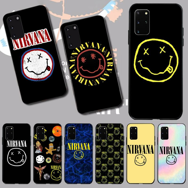 NBDRUICAI American rock band Nirvana Cover Black Soft Shell Phone Case for Samsung S20 plus Ultra S6 S7 edge S8 S9 plus S10 5G image