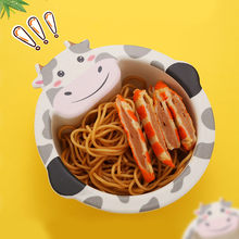 Baby Feeding Learning Dishes Bowl Bamboo fiber children's cartoon bowl cutlery Tableware Kids Eating Training Bowls plate(China)