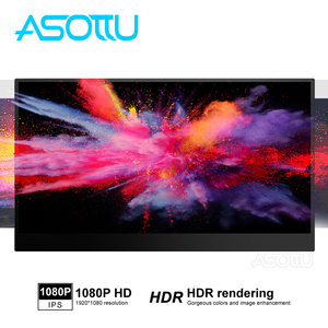 Портативный HD IPS экран 15,6 дюйма, монитор для ноутбука, настольного ПК, PS3, PS4, X-Box Switch, тонкий игровой монитор 1920*1080P, ЖК-монитор HD