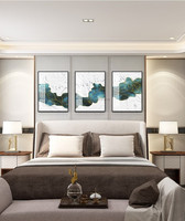 Hand painted Acrylic Painting Gold line Art canvas Wall art Abstract Pictures For Living room decoracion hogar moderno