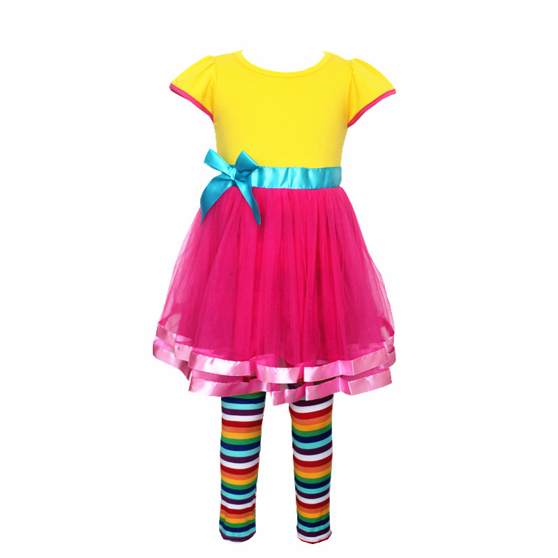 Fancy Nancy Cosplay Kids Girls Sleeveles Dress Summer Yellow Skirt Mask Costume