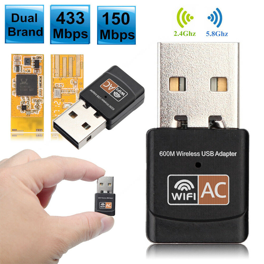 USB WiFi Adapter USB Ethernet WiFi Dongle 600Mbps 5Ghz Lan USB <font><b>Wi</b></font>-<font><b>Fi</b></font> Adapter PC Antena <font><b>Wi</b></font> <font><b>Fi</b></font> Receiver AC Wireless Network Card image