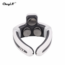 Neck-Massager TENS Health-Care Relaxing Magnetic-Stones Pain-Relief Pulse 3-Heads