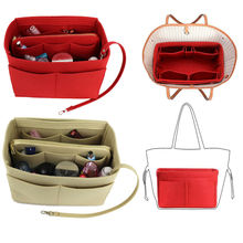 Womens Organizer Handbag Felt Travel Bag Insert Liner Purse Organiser Pouch|Cosmetic Bags & Cases|   - AliExpress