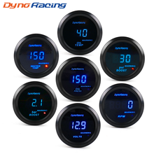 "Dynoracing 2"" 52mm Car Digital Turbo Boost Gauge PSI BAR Water Temp Oil Temp Oil Pressure Gauge Voltmeter Tachometer Rpm gauge(China)"