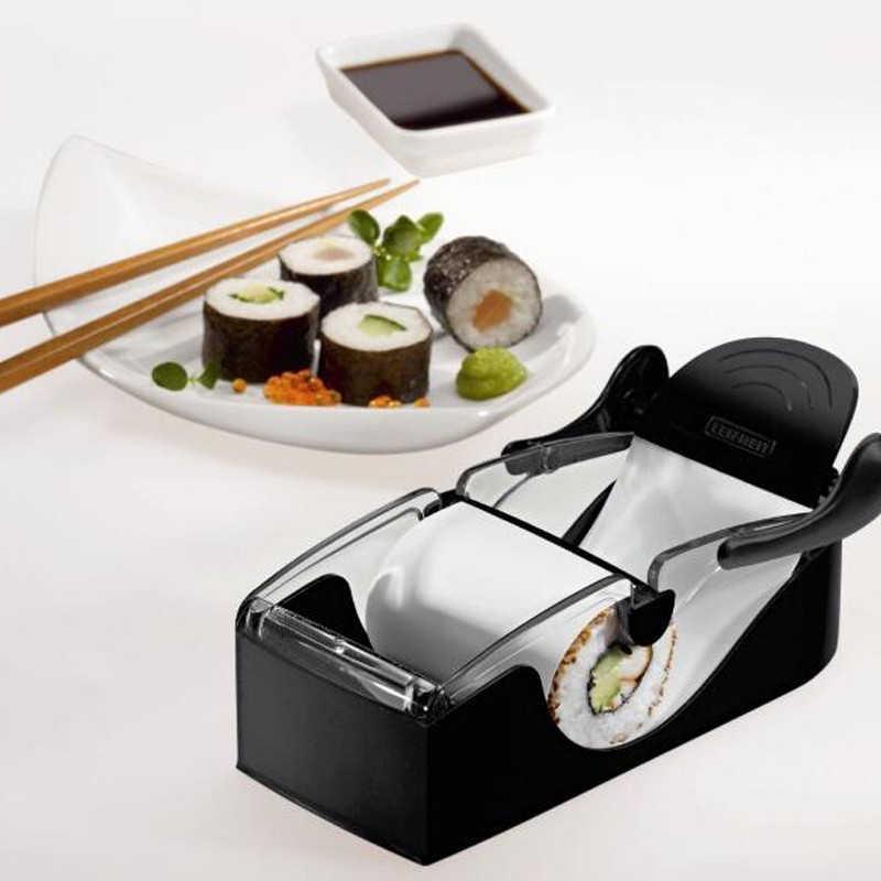 Ferramentas de arroz sushi máquina kit nori rolo ferramenta recheado garpe repolho vegetal carne rolando ferramenta conjunto para comida japonesa onigiri