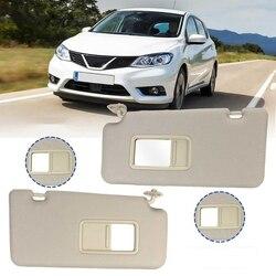 1 para samochodów wewnętrzna osłona przeciwsłoneczna tarcza Shade Board z lusterkami lustro dla Nissan Tiida 2005 2006 2007 2008 2009 2010