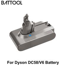 цена на Battool 21.6V 6.0Ah For Dyson DC58 V6 Li-ion Battery Replacement V6 DC61 DC62 DC72 DC58 DC59 Vacuum Cleaner 965874-02 Battery