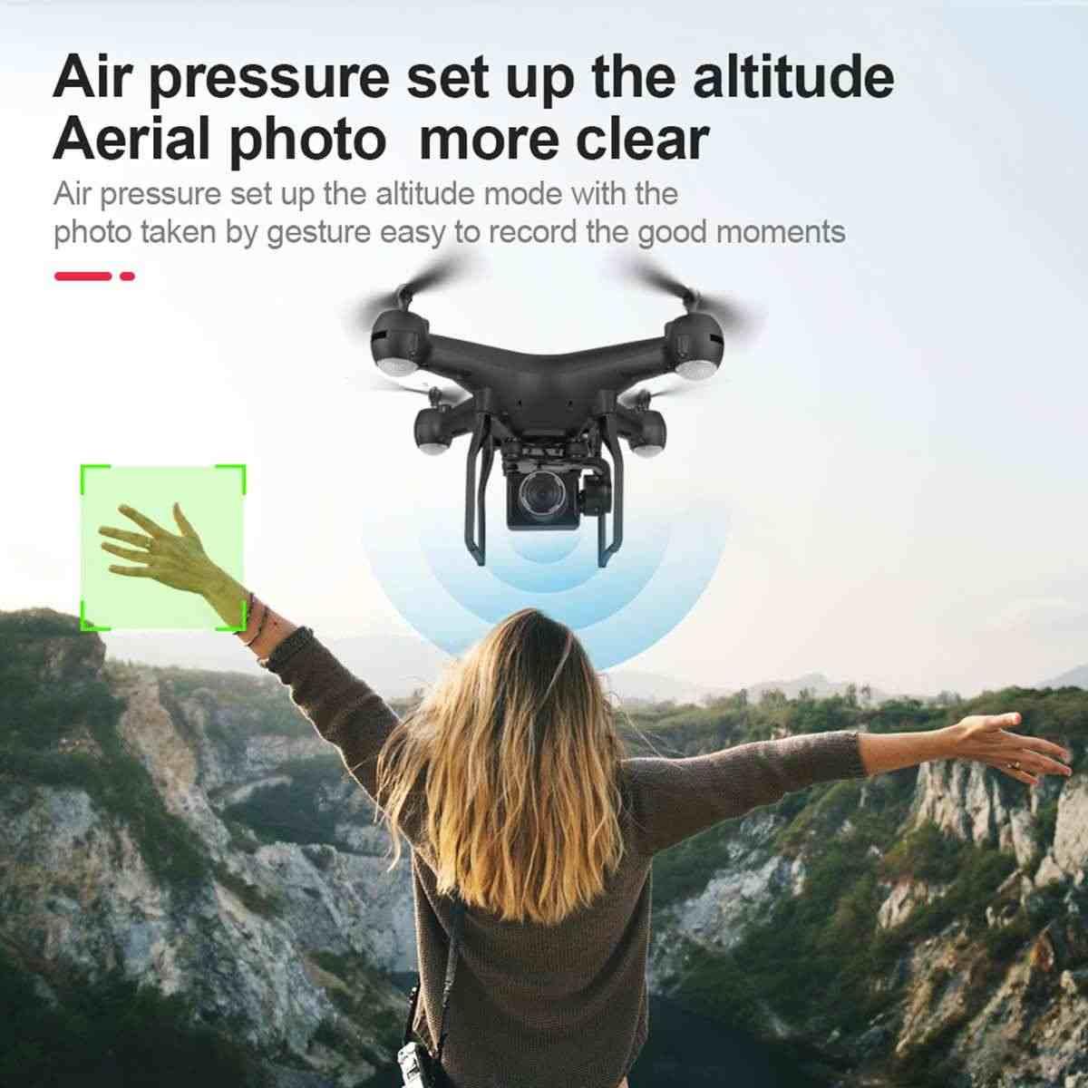 ออกแบบใหม่ 4K 1080 HD กล้องมุมกว้าง Quadcopter WIFI FPV โหมด Hold High พับแขน RC drone แบตเตอรี่