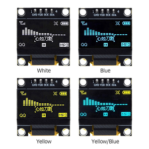 0.96 Inch IIC OLED Display Module I2C SSD1306 128x64 12864 OLED Screen Board GND VDD SCK SDA 4 Pin for Arduino
