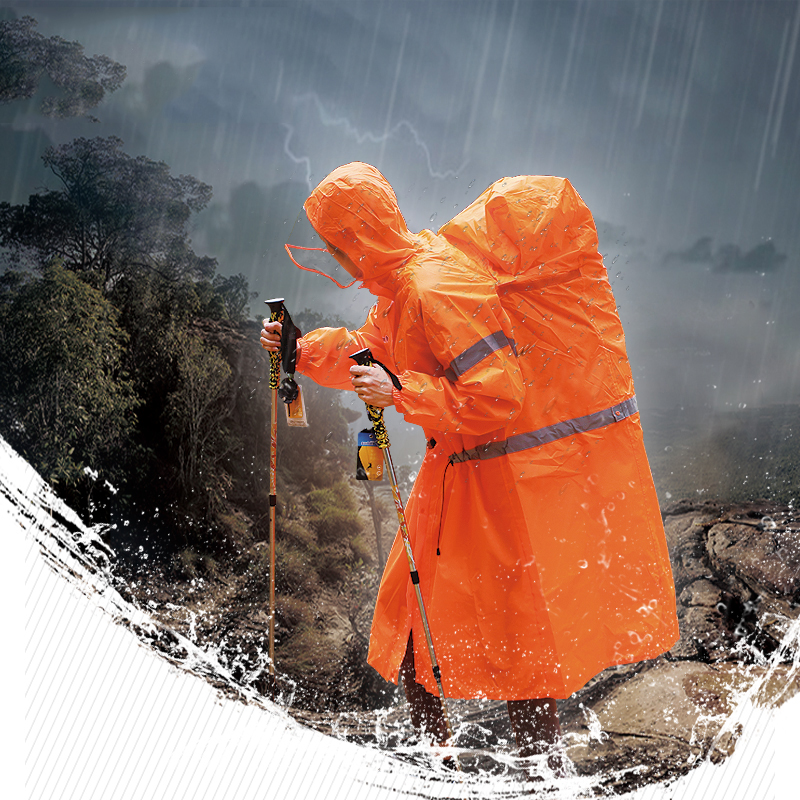 Outdoor Raincoat Backpack Cover One-piece Raincoat Poncho Poncho Outdoor Hiking Camping Jacket Unisex Rain Gear
